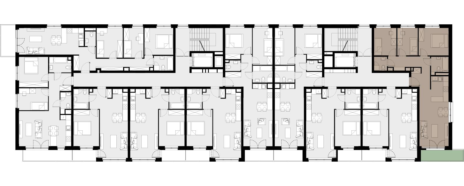 Mieszkanie Nr / 1.35 – aranżacja podstawowa