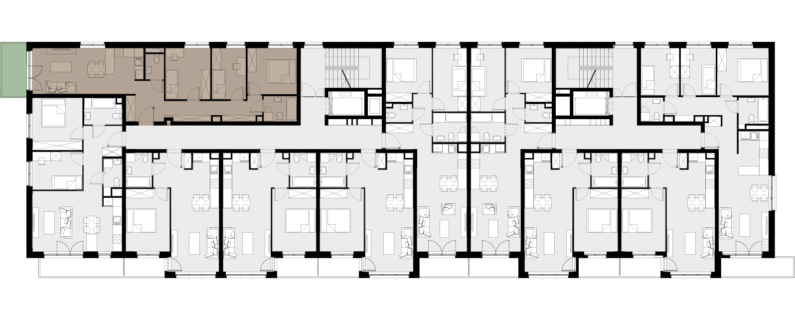 Mieszkanie Nr / 2.18 – aranżacja podstawowa